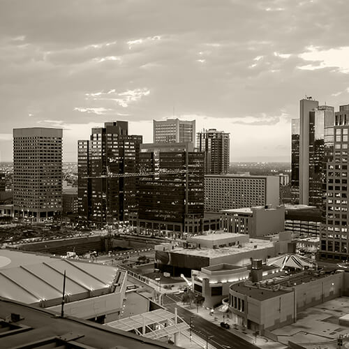 Photo of city skyline to illustrate where this oral surgeon Phoenix, AZ has one of his offices