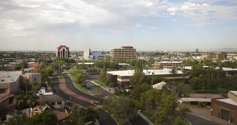Urban area of the city of Mesa, AZ